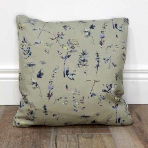 floral designed cushion