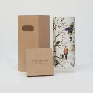 Hunting Table Lamp Cotton/Linen Fabric by Irish Eilis Galbraith