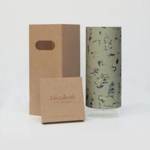 Floral Table Lamp Cotton/Linen Fabric by Irish Eilis Galbraith