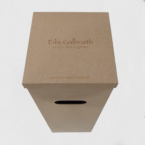Eilis Galbraith floor lamp packaging