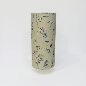 Irish fabric table lamp floral