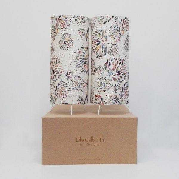Dandi Set of 2 Table Lamps Cotton/Linen Fabric by Irish Designer Eilis Galbraith