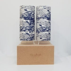 Landscape Set of 2 Table Lamps Cotton/Linen Fabric by Irish Designer Eilis Galbraith