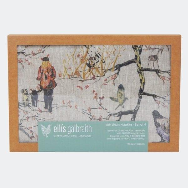 Irish linen napkins Irish artist Eilis Galbraith