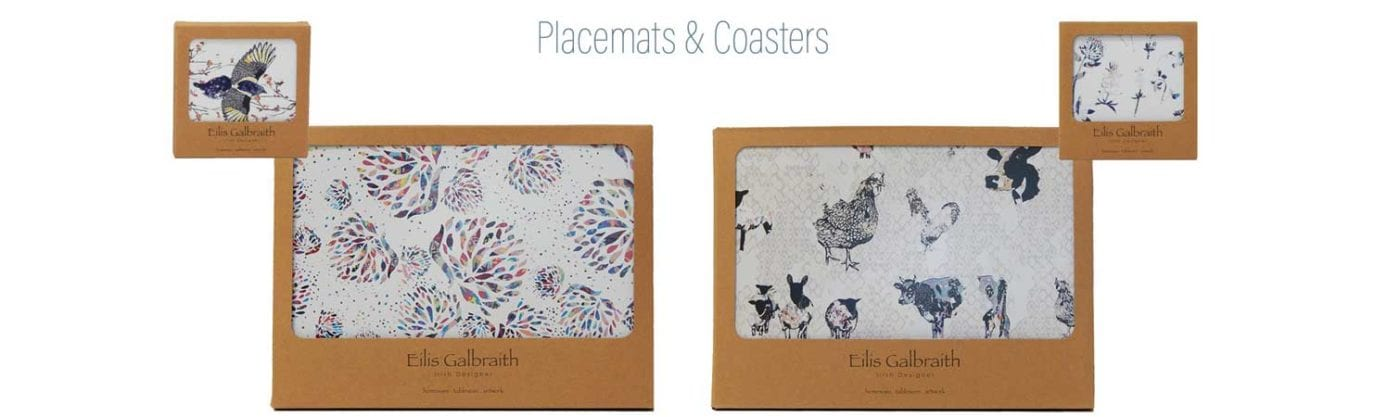 Irish coasters placemats