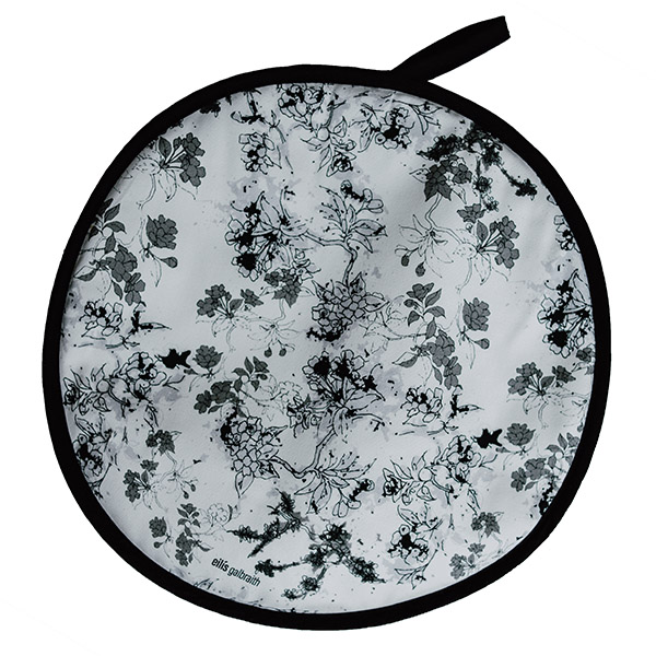 Flowers in Bloom (black and white) Chef Pad/Aga Pad